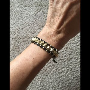 New Never Worn Black and Gold Bracelet
